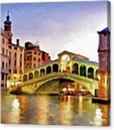 Hot Venetian Nights Canvas Print