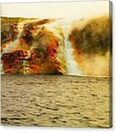 Hot Water Pouring Canvas Print