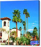 Hotel California Palm Springs Canvas Print