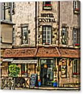 Hotel Central In Beaune France Canvas Print