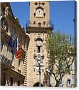 Hotel De Ville - Aix En Provence Canvas Print