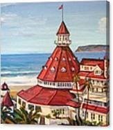 Hotel Del Coronado From Above Canvas Print