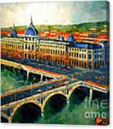 Hotel Dieu De Lyon II Canvas Print