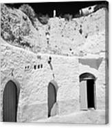 hotel room cave accomodation Sidi Driss Hotel underground at Matmata Tunisia scene of Star Wars films Canvas Print