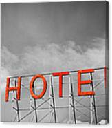 Hotel Sign Canvas Print