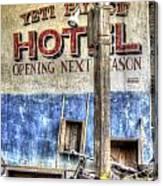 Hotel Yeti Canvas Print