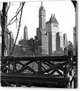 Hotels Seen From Central Park  Canvas Print