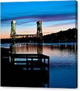 Houghton Bridge Sunset Canvas Print