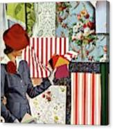 House & Garden Cover Illustration Of A Woman Canvas Print