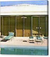 House & Garden Cover Of A Swimming Pool At Miami Canvas Print