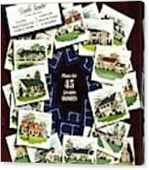 House And Garden Cover Featuring A Collage Canvas Print