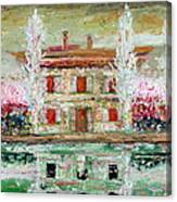 House And River Canvas Print