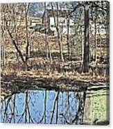 House And The Reflecting Pool Canvas Print
