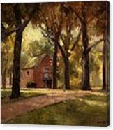 House And Trees Canvas Print