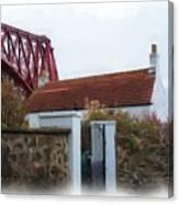 House At The Bridge Canvas Print