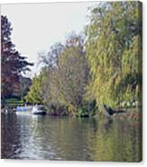 House Boat On River Avon Canvas Print