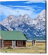 House By The Tetons Canvas Print