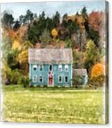 House By The Woods Canvas Print