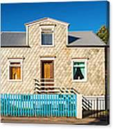 House In Akureyri Iceland Canvas Print