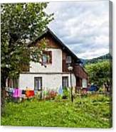 House In The Capathians Village Canvas Print