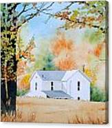 House In The Meadow Canvas Print