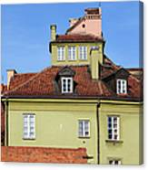 House In The Old Town Of Warsaw Canvas Print