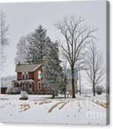 House In Winter Canvas Print