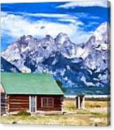 House On Mormon Row Canvas Print