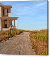 House On Rural Dirt Road Canvas Print