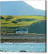 House On The Shore Canvas Print