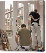 House Painters At Work Canvas Print