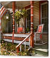 House - Porch - Traditional American Canvas Print