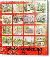 House Rendering Card Canvas Print
