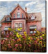 House - Victorian - Summer Cottage  Canvas Print