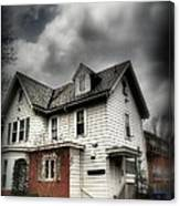 House With Brick Front - American Gothic Canvas Print