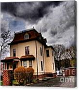 House With Storm Approaching Canvas Print