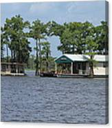 Houseboat - Atchafalaya Basin Canvas Print