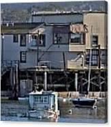 Houseboat In Monterey Harbor Canvas Print