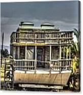 Houseboat Canvas Print