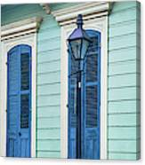 Houses Along A Street, French Quarter Canvas Print