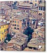 Houses Of Old City Of Siena - Tuscany - Italy - Europe Canvas Print