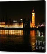 Houses Of Parliament - London Canvas Print
