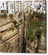 Houses On A Rock In Ronda Canvas Print