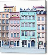 Houses On Old Town Market Place Canvas Print