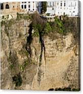 Houses On Rock In Ronda Canvas Print