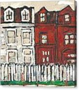 Houses On William Street Canvas Print