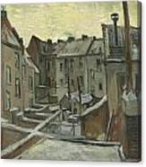 Houses Seen From The Back Canvas Print