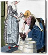 Housewife, 1811 Canvas Print