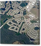 Housing Development Near Wetland Canvas Print