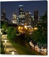 Houston At Night Canvas Print